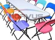 Mesas y sillas infantiles para talleres