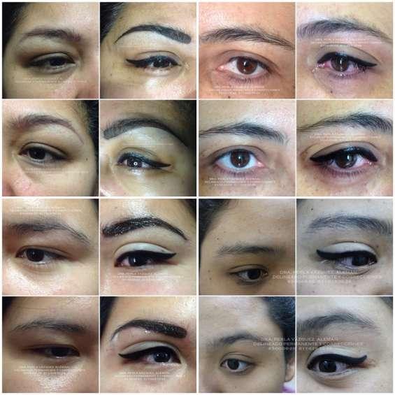 Delineado permanente en ojos
